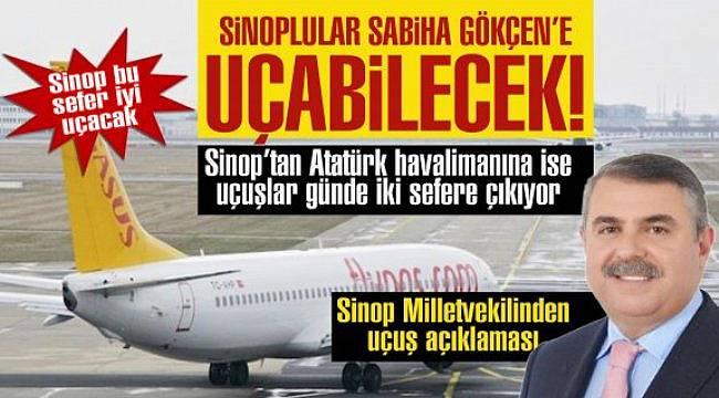 Sinop'a uçuş müjdesi