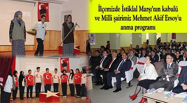 Milli şairimiz Mehmet Akif Ersoy'u anma programı