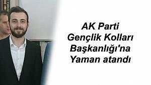 AK Parti Gençlik Kolları Başkanlığı'na Yaman atandı
