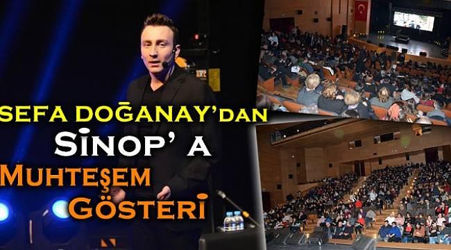 Sefa Doğanay'dan Sinop'ta muhteşem stand up gösterisi