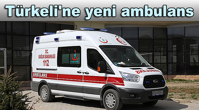 Türkeli'ne yeni ambulans