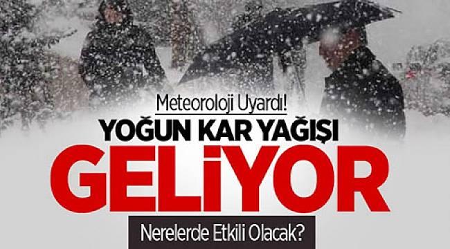Batı Karadeniz'e yoğun kar yağışı uyarısı