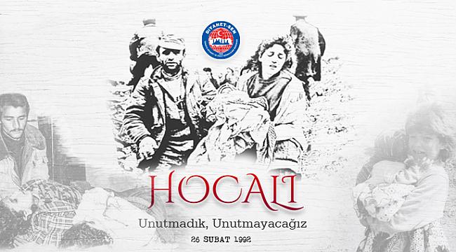 Türkeli Diyanet-Sen: Hocalı Soykırımı'nı Asla Unutmayacağız, Unutturmayacağız!