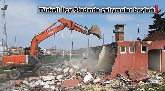Türkeli İlçe Stadında çalışmalar başladı