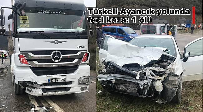 Türkeli-Ayancık yolunda kaza: 1 ölü