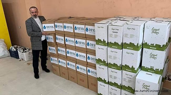Türkeli DEVA Partisi'den gıda yardımı