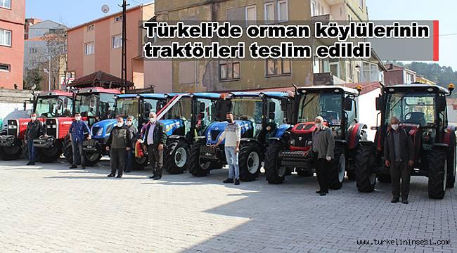 Türkeli'de orman köylülerinin traktörleri teslim edildi