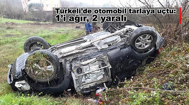 Türkeli'de otomobil tarlaya uçtu: 1'i ağır, 2 yaralı