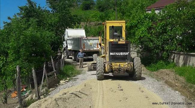 Türkeli'de asfaltlama çalışmalarına başlandı