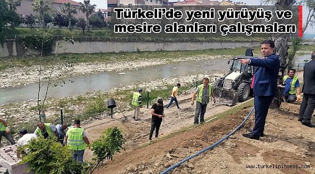 Türkeli'de yeni yürüyüş ve mesire alanları çalışmaları