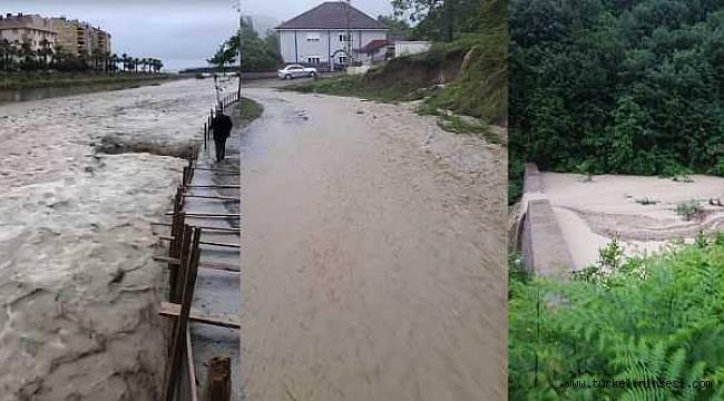 Türkeli'de sağanak yağış hasara yol açtı