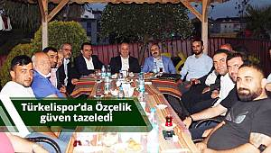 Türkelispor'da Özçelik, güven tazeledi
