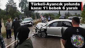 Türkeli-Ayancık yolunda kaza: 1'i bebek 6 yaralı
