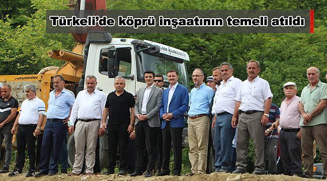 Türkeli'de köprü inşaatının temeli atıldı