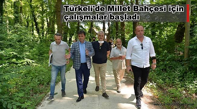 Türkeli'de Millet Bahçesi için çalışmalar başladı