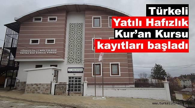 Türkeli Yatılı Hafızlık Kur'an Kursu kayıtları başladı