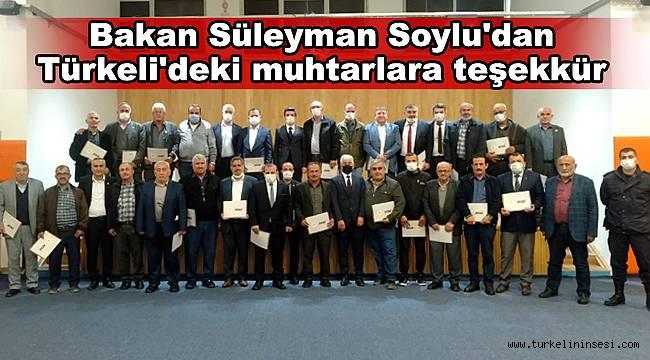 Bakan Soylu'dan Türkeli'deki muhtarlara teşekkür