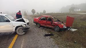 Çatalzeytin yolunda kaza: 2 yaralı