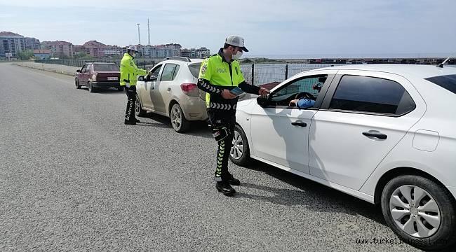 Sinop'ta 122 araç trafikten men edildi