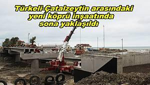 Türkeli-Çatalzeytin köprü inşaatında sona yaklaşıldı