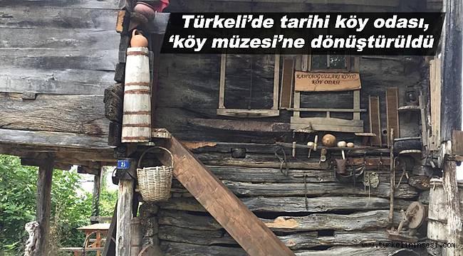 Türkeli'de tarihi köy odası, 'köy müzesi'ne dönüştürüldü