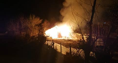 Türkeli'de ahır yangını: 12 büyükbaş hayvan telef oldu