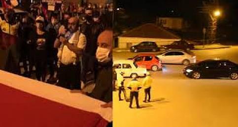 Sinoplular İsrail zulmünü protesto için sokaklara döküldü